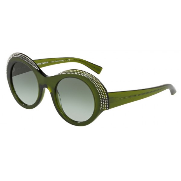 Alain Mikli A0 5040B Roselyne 005/8E Verde / Cristalli Traslucidi
