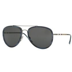 Burberry BE 3090Q 100887 Grigio Scuro/Avana Blu