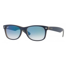Ray-Ban RB 2132 63083F New Wayfarer Blu Opaco Marrone