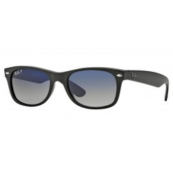 Ray-Ban RB 2132 601S-78 New Wayfarer Polarizzato Nero Opaco