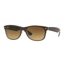 Ray-Ban RB 2132 618985 New Wayfarer Marrone Su Blu