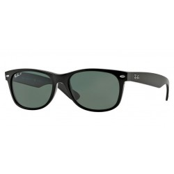 Ray-Ban RB 2132 901-58 New Wayfarer Polarizzato Nero Lucido