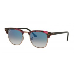 Ray-Ban RB 3016 CLUBMASTER 12573F SPOTTED GREY/VIOLET