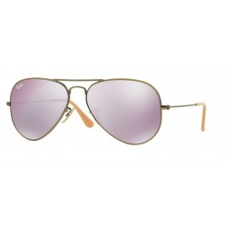 Ray-Ban RB 3025 Aviator Large Metal 167/4K Demiglos Bronzo Bruscato