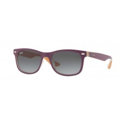 Ray-Ban Junior RJ 9052S Junior New Wayfarer 703311 Viola Opaco Superiore Su Arancione