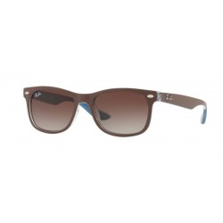 Ray-Ban Junior RJ 9052S Junior New Wayfarer 703513 Top Marrone Opaco Su Blu