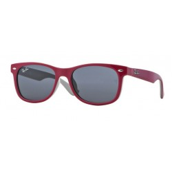 Ray-Ban Junior RJ 9052S Junior New Wayfarer 177/87 Top Fuxia Rosso Su Grigio