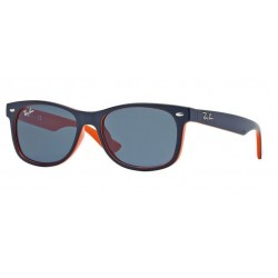 Ray-Ban Junior RJ 9052S Junior New Wayfarer 178/80 In Alto Blu Su Arancione