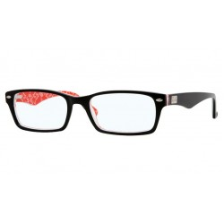 Ray-Ban RX 5206 - 2479 TOP BLACK ON TEXTURE RED