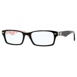 Ray-Ban RX 5206 - 5014 TOP BLACK ON TEXTURE WHITE