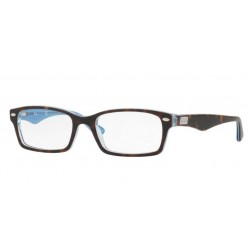 Ray-Ban RX 5206 - 5023 TOP HAVANA ON TR AZURE