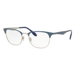 Ray-Ban RX 6346 - 3022 Mossa Blu Opaca Superiore Argento M