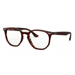 Ray-Ban RX 7151 - 5911 Top Trasp Rosso Su Havana Orange